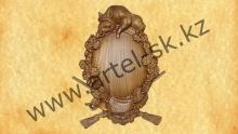 Медальон под охотничьи трофеи