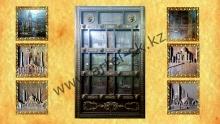 Ворота с резными изображениями мечетей