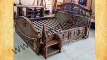 Кровать брашированная образец №3<br/>