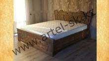 Кровать брашированная образец №1