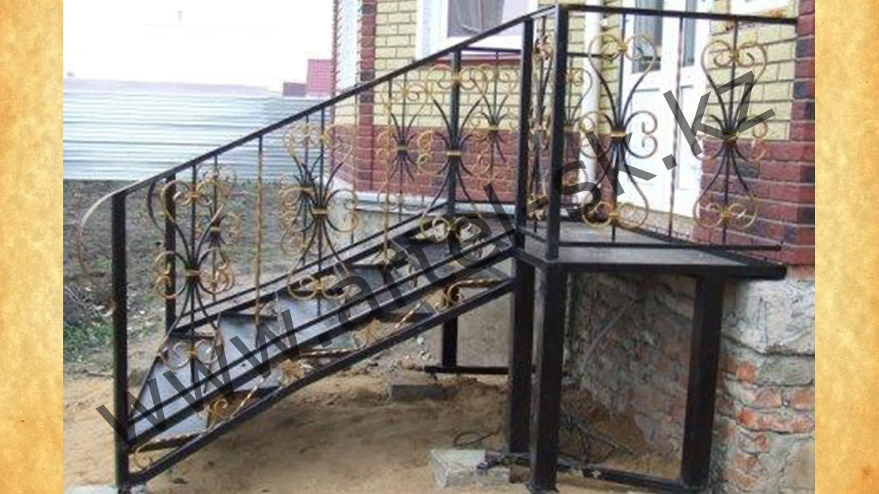 Крыльцо из металла к дому своими руками проекты фото