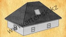Тип крыши - вальмовая