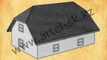 Тип крыши - полувальмовая