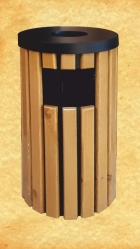 Урна с деревянной отделкой<br/>без  внутреннего контейнера
