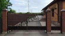 Ворота с калиткой модель №84