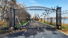 Ворота с калиткой модель №85