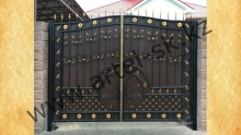 Ворота без калитки модель №75