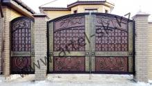 Ворота с калиткой модель №76