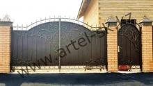 Ворота с калиткой модель №39
