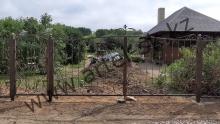 Ворота с калиткой модель №82