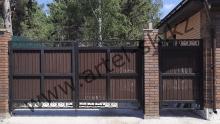 Ворота с калиткой модель №86