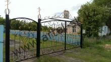 Ворота с калиткой модель №36