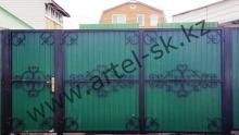 Ворота с калиткой, модель №24