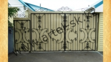 Ворота с калиткой модель №21