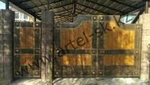 Ворота с калиткой модель №19