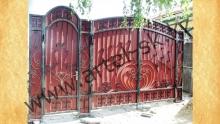 Ворота с калиткой модель №25