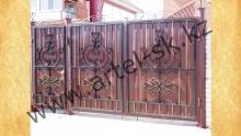 Ворота с калиткой модель №26