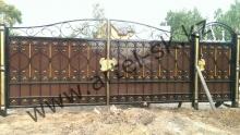 Ворота с калиткой модель №32
