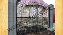 Ворота прозрачные модель №35