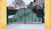 Ворота с калиткой модель №37