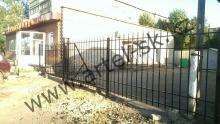 Ворота с калиткой модель №34