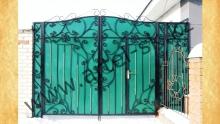 Ворота с калиткой модель №38