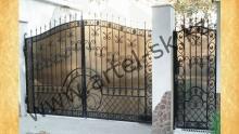 Ворота с калиткой модель №42