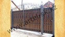 Ворота с калиткой модель №43