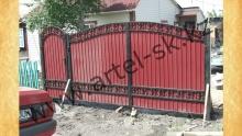 Ворота с калиткой модель №44