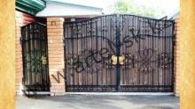 Ворота с калиткой модель №45