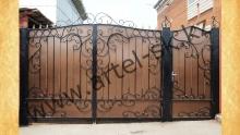 Ворота с калиткой модель №46