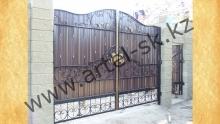 Ворота с калиткой модель №47