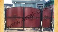 Ворота с калиткой модель №27