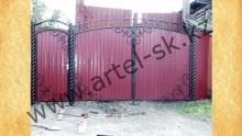 Ворота с калиткой модель №51
