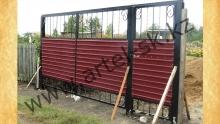 Ворота с калиткой модель №56