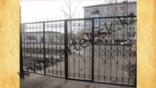 Ворота с калиткой модель №40
