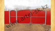 Ворота с калиткой модель №61