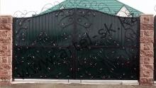 Ворота с калиткой модель №55