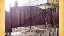 Ворота с калиткой модель №53