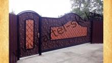 Ворота с калиткой модель №59