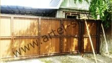 Ворота с калиткой модель №52