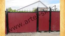 Ворота с калиткой модель №58